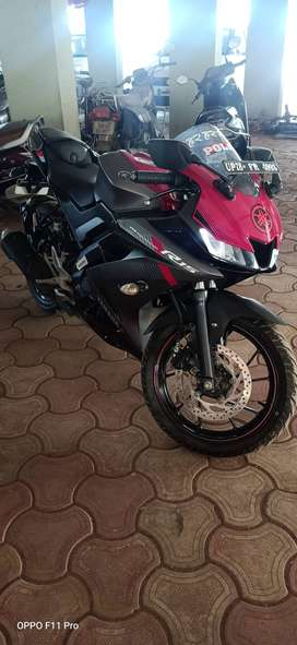 MY YAMAHA R15 V3 is the latest update R15, best mileages.