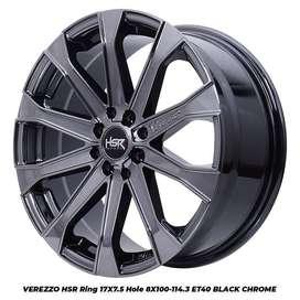 velg racing r17x75 h8x100-114,3 et40 black chrome