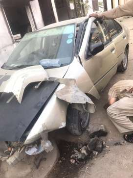 Nissan sunny 1998 accident