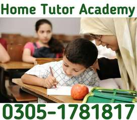 Well educated home tutors are available in all Karachi