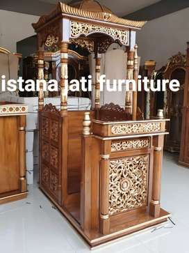 Ready stock mimbar masjid khutbah masjid Free ongkir siap kirim