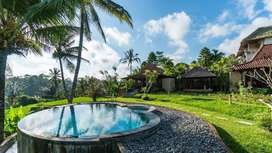VILLA UBUD TEGALLALANG TRADITIONAL WOODEN STYLE WITH RICEFIELD VIEWS