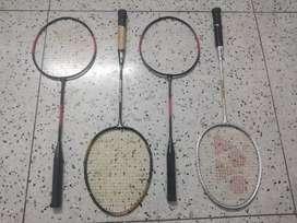 Four badminton racket