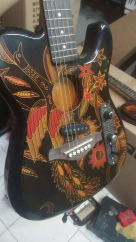 Fender telekustik kain batik asli antik indonesia