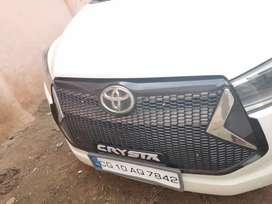 Innova Crysta front grill Lexus style