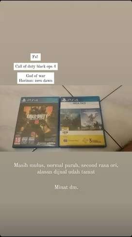 BD PS4 God of War, Horizon dan COD IIII