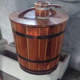 Bak mandi unik bak mandi cantik kayu jati belanda unik dan cantik