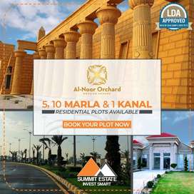 5 Marla Plot, Booking in 2.5 Lac, Al-Noor Orchard Lahore, LDA Approved