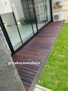 Decking kayu ulin kalimantan/pooldeck kayu/flooring kayu/pagar kayu