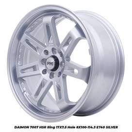 DAIMON 7007 FC HSR Ring.17X75 H8X100-114,3 ET40 SILVER