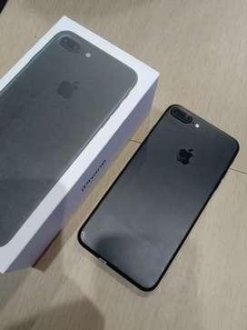 IPhone, IPhone 7 Plus Black Matte 128GB Fullset Mulus !!!