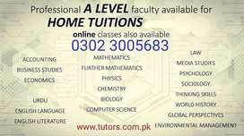 Home Tutors & Online For Sector G6, Islamabad, CALL Mr. Asif Anderson