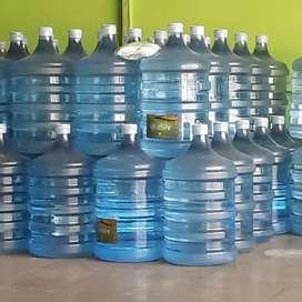 Galon 19L air minum AMANAH/bisa isi ulang dg bawa galon merk lain.