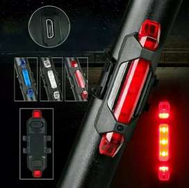 Lampu LED Belakang Sepeda USB Charge Bike Running Strobo Kedip