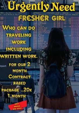 Female for traveling job