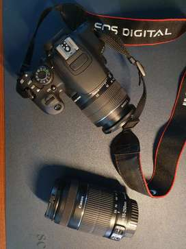 Canon eos 700d with 18_55 mm lens and 55-210 mm lens