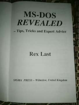Ms Dos Revealed Tips Tricks And Expert Advice by Rex William Last