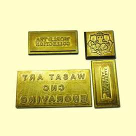 Embossing and engraving dies making (Brass & Silver))