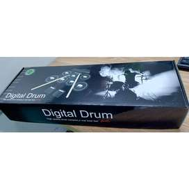 Ammoon Electronic Drum Kit 7 Pads Roll Up USB Power - G3002 - Green