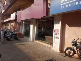 Road facing Double height shops in Margao