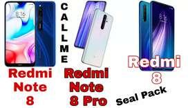 Redmi 8, Redmi Note 8, Redmi Note 8 pro, Realme 3, Redmi 7a Seal Pack