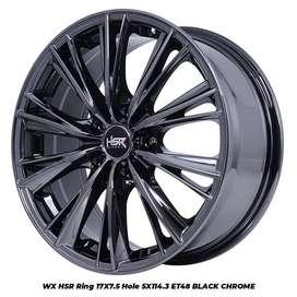 Velg Mobil Ertiga, Grandmax dll WX HSR R17X75 H5X114,3 ET48 BLACK CHRO