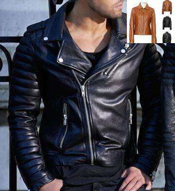 Best Sheep Leather MENS BROWN SLIM FIT WAX CLASSIC SOFT LEATHER JACKET