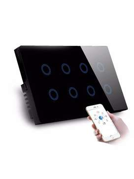 8 Gang Smart Wifi wall touch switch
