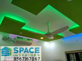 GYPSUM CEILING FALSE CEILING INTERIOR WORK POP CEILING PVC CEILING