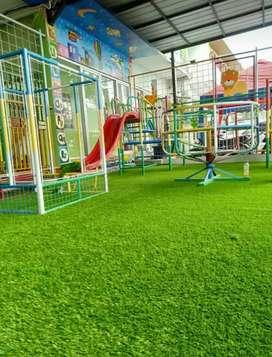 Kreasitas Lantai Rumput Sintetis Taman Pasang Ruangan, Gedung & Futsal