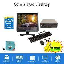 """core2duo 4gb ram 320gb hdd 19""""lcd keyboard mouse rs.7000"""