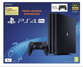 Sony PS4 Pro 1TB Console with one Additional Controller Pasted Outside