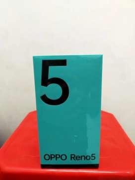 Oppo Reno 5 new like garansi resmi