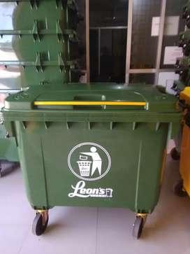 Tempat sampah kontainer wheelbin 660 liter