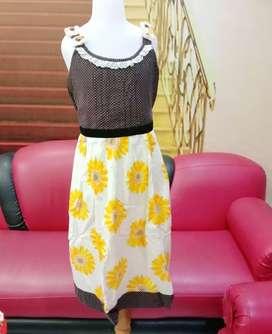 Dress anak panjang PRETTY GIRL Original Kwalitas butik Katun Usia 12