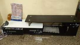 White and black TV unit