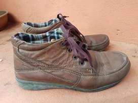 Sepatu semi boot fld brown uk 40 no kotak second