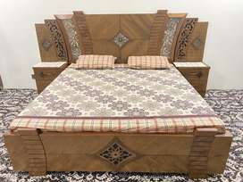 Brand new double bed with side table dressing table and orth mattress