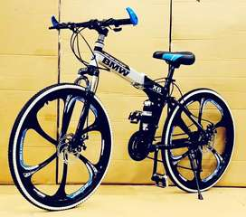 BMW FOLDABLE BICYCLE WITH 21 SHIMANO GEARS TECHNOLOGY