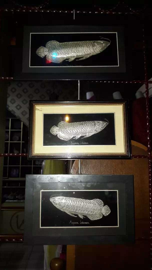 Hiasan ikan arwana terbuat dr Perak 0