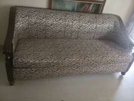 Black Shisham sofe five seater in almost new condition