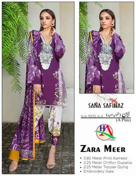 Clothes 3pic  for sale         2.85 meter   Print kameez