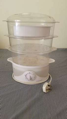 Synergy Food Steamer , 3 Tier Plastic Food steamer