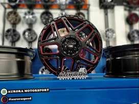 Pelek racing Calya ring 16 lebar 7 tipe Konga HSR black red