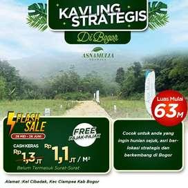 Kavling Villa Strategis View Gunung Salak di Bogor