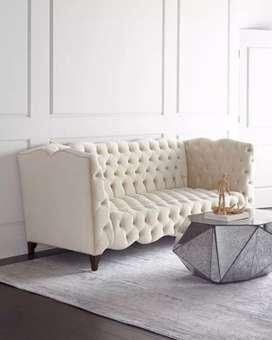 Kursi sofa mewah full busa, kayu jati, free ongkir