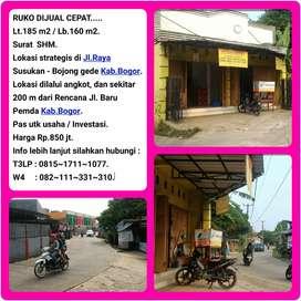 Tempat usaha di jalan Susukan 0012, Bojing gede, Bogor.