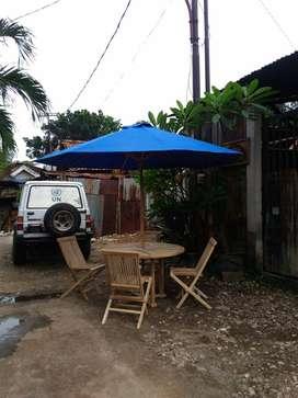 Meja Payung Bulat Dia.120 cm Dg 4 Kursi KML 002 MSB CBR