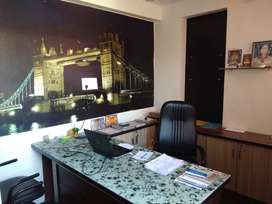 For Rent 400sq.fit Fully furnish Office CG Road.