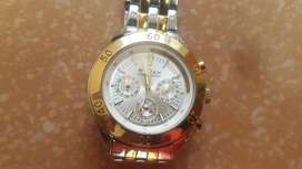 Titan 9324BAD watch Chronograph  Golden-Silver Dial  Stainless Steel